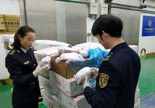 進口凍肉規範申報配合海關查驗