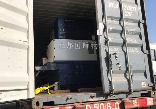 进口机械用集装箱运输