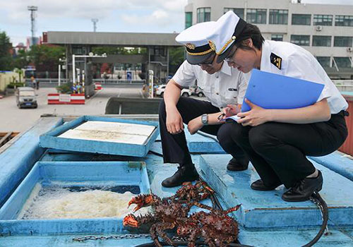Import seafood declaration customs inspection